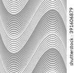 optical art background wave...   Shutterstock . vector #391606879