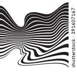 optical art background wave... | Shutterstock . vector #391607167