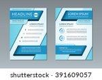vector brochure flyer leaflet... | Shutterstock .eps vector #391609057