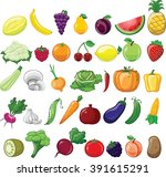 set of vector illustrations... | Shutterstock .eps vector #391615291