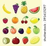 set of cartoon vector...   Shutterstock .eps vector #391615297