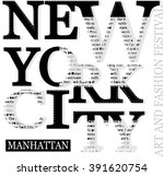 New York Typography Tee Graphi...