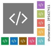 programming code flat icon set...
