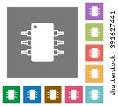 integrated circuit flat icon...