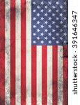 grunge usa flag | Shutterstock . vector #391646347