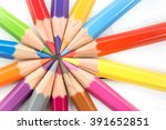 group of colorful pencil team
