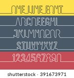 one line alphabet and number... | Shutterstock .eps vector #391673971
