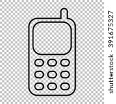cell phone line vector icon on... | Shutterstock .eps vector #391675327