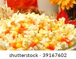 Bowl Of Butter Popcorn And...