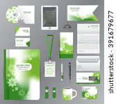 white identity template with... | Shutterstock .eps vector #391679677
