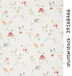 retro floral background | Shutterstock . vector #39168466