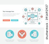 flat line business concept web... | Shutterstock .eps vector #391692937