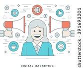flat line business concept...   Shutterstock .eps vector #391693201