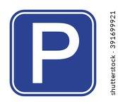 parking sign | Shutterstock .eps vector #391699921