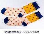 polka dot sock | Shutterstock . vector #391704325
