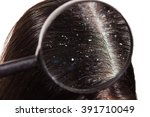 the doctor looks through a... | Shutterstock . vector #391710049