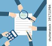 memorandum of understanding mou | Shutterstock .eps vector #391711984