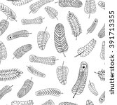 seamless two patterns of... | Shutterstock .eps vector #391713355