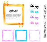 quote boxes. abstract square... | Shutterstock .eps vector #391731781