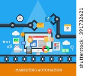 marketing automation vector | Shutterstock .eps vector #391732621