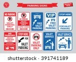 valet parking signs  valet... | Shutterstock .eps vector #391741189