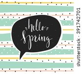 "hand drawn cards ""hello spring"" ... 