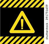 caution warning sign | Shutterstock .eps vector #391751659