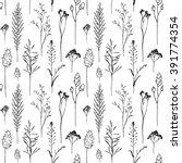 summer field seamless... | Shutterstock .eps vector #391774354
