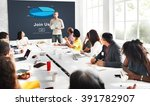 join us headhunting company... | Shutterstock . vector #391782907