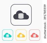 cloud computing color icon set  ...