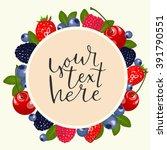 fruit vector frame. fruit...   Shutterstock .eps vector #391790551