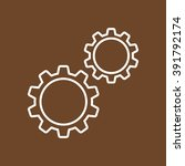 line icon   gears | Shutterstock .eps vector #391792174