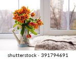 lots of small plant pot on the... | Shutterstock . vector #391794691
