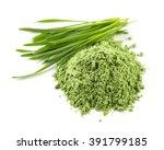 Heap Of Green Wheat Powder...