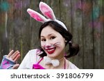 Woman Easter Hare