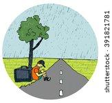 Homeless Child.long Road.rain...