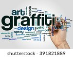 graffiti word cloud concept... | Shutterstock . vector #391821889