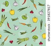 healthy organic food vegetables ... | Shutterstock .eps vector #391827817