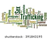 sex trafficking  word cloud... | Shutterstock . vector #391843195