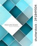 business brochure cover design... | Shutterstock .eps vector #391849504