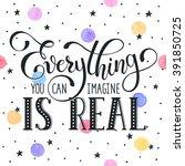 inspiring lettering black on... | Shutterstock .eps vector #391850725
