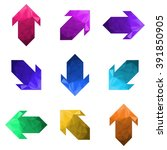 big set of polygonal arrows | Shutterstock .eps vector #391850905