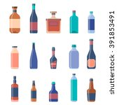 different bottles collections.... | Shutterstock .eps vector #391853491