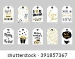 collection of ten gold texture... | Shutterstock .eps vector #391857367