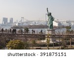 odaiba  tokyo  japan   march 17 ... | Shutterstock . vector #391875151