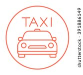 taxi line icon. | Shutterstock .eps vector #391886149