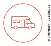 motorhome line icon. | Shutterstock .eps vector #391886785