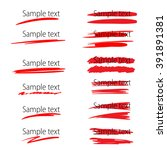 set of vector highlighter... | Shutterstock .eps vector #391891381