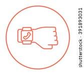 smartwatch line icon. | Shutterstock .eps vector #391893031