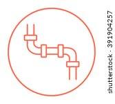 water pipeline line icon. | Shutterstock .eps vector #391904257